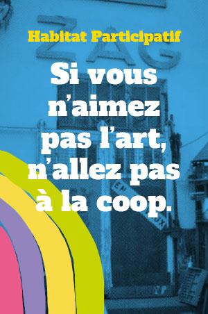 affiche habitat participatif art