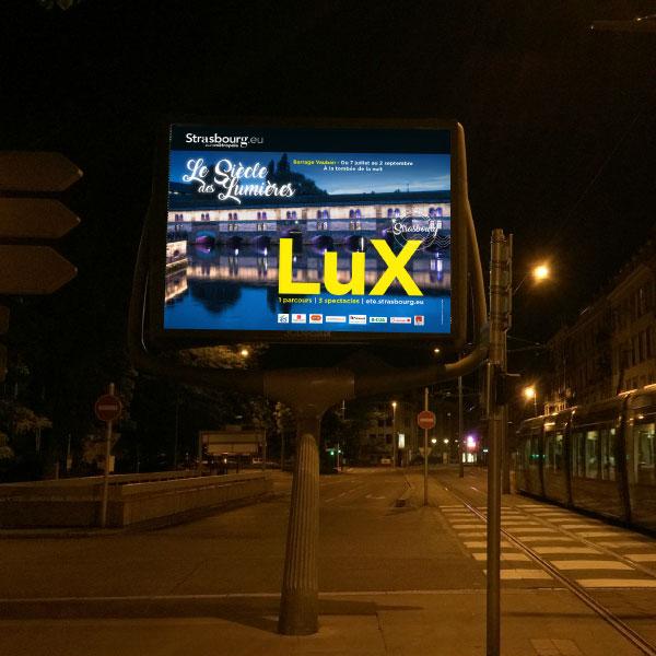 affichage mobilier urbain Lux siècle des lumieres Strasbourg