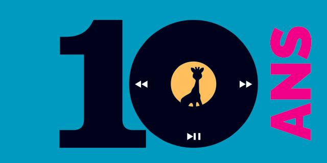 logo 10 ans médiathèques de Reims