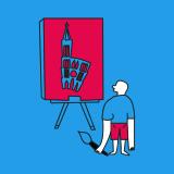 Illustration jeune peintre