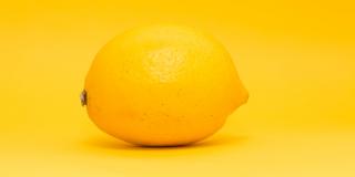 Citron sur fond jaune