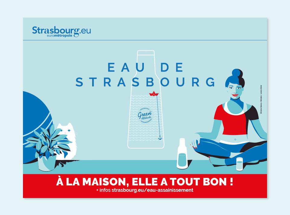 affiche eau de Strasbourg à la maison elle a tout bon