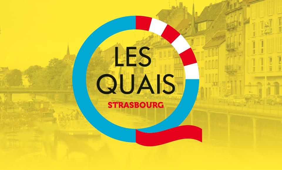 Identité logo les quais Strasbourg