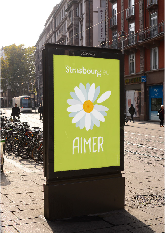 photo affiche Strasbourg.eu aimer
