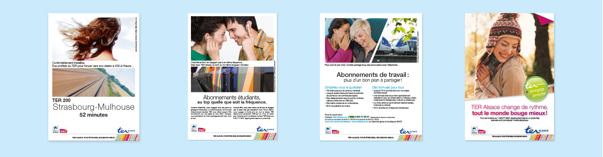 frise affiches commerciales TER