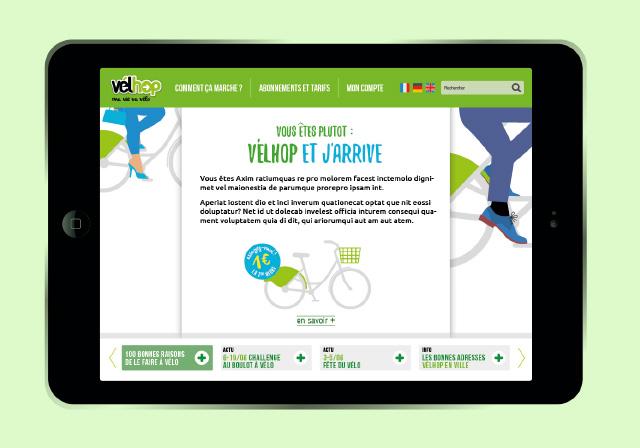 application mobilité sur tablette