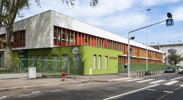 vue extérieure école Louvois Strasbourg