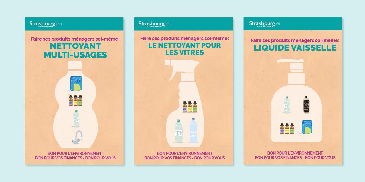 affiches faire ses produits ménagers soi-même
