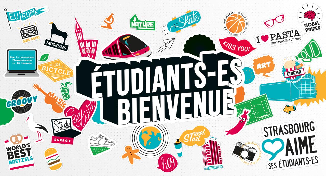 affiche étudiant(e) bienvenue Strasbourg