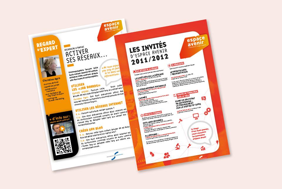 flyer newsletter espace avenir