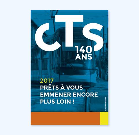 concept d'édition magazine CTS 140 ans