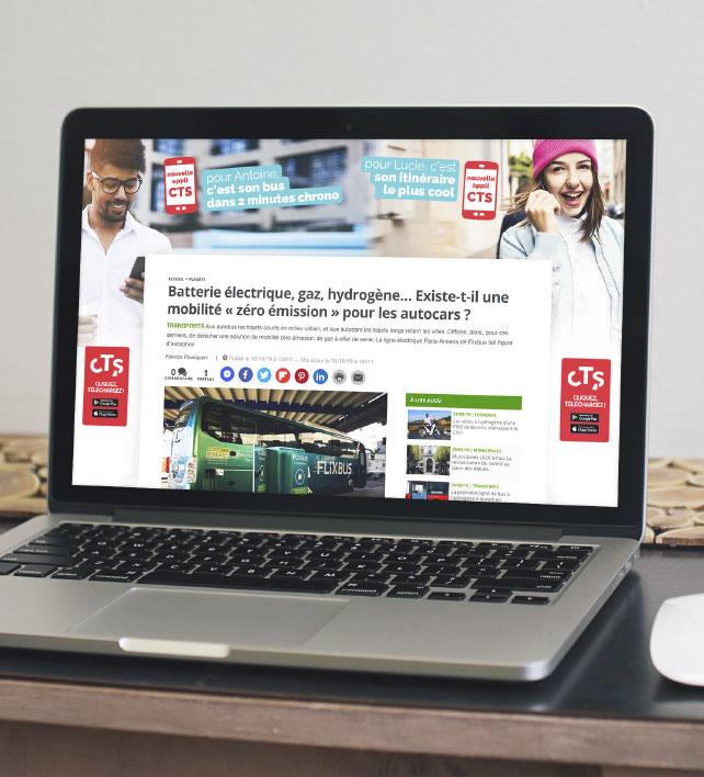 Habillage publicitaire Webmarketing