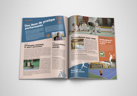 double page magazine passerelles