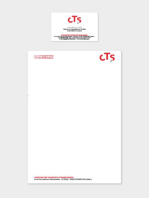 carte professionnelle papier entête CTS