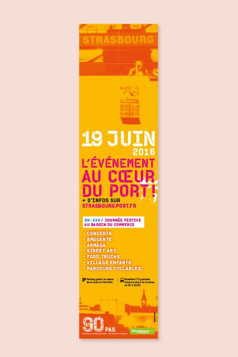 Kakémono pour les 90 ans du Port Autonome de Strasbourg