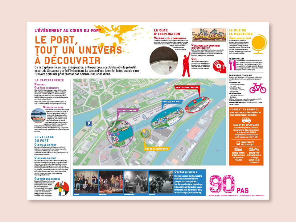 Programme de l'évènement 90 ans du Port Autonome de Strasbourg