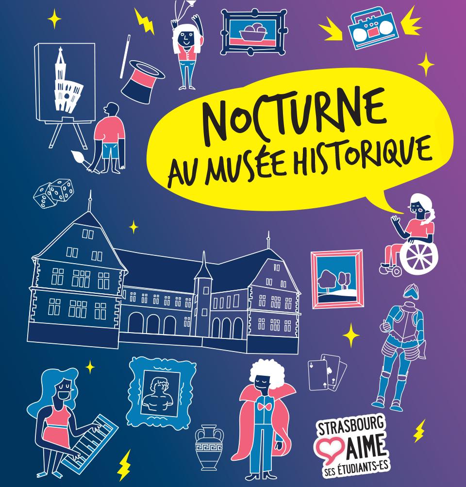affiche nocturne au musée historique