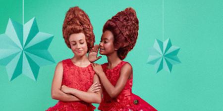 Affiche noël jeunes filles elfes