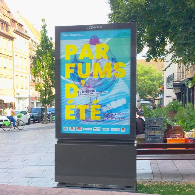 affiche parfums d'été en ville