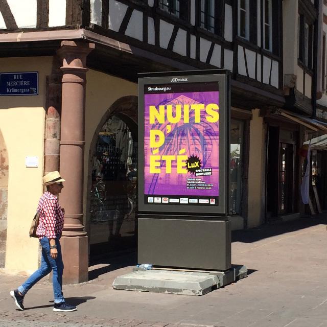 affiche nuits d'été en ville