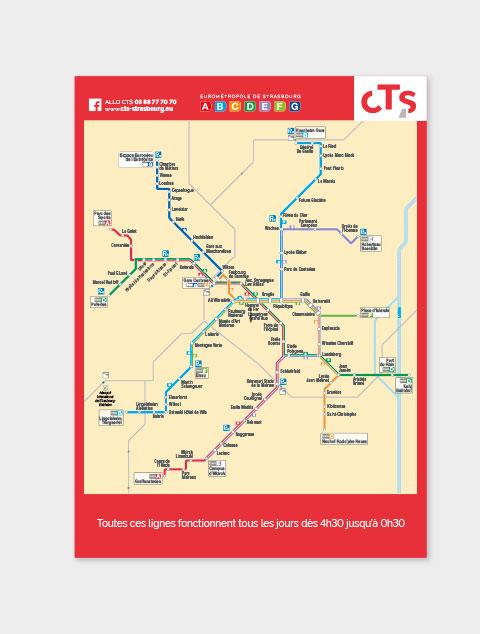 plan des lignes réseau CTS Strasbourg