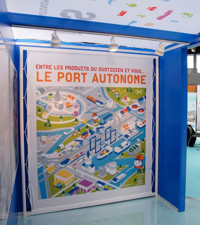 Bâche illustrée du Port Autonome de Strasbourg