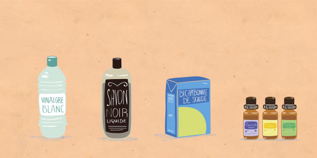 illustration produits ménagers DIY