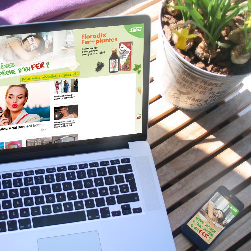 site internet Salus sur écran d'ordinateur portable