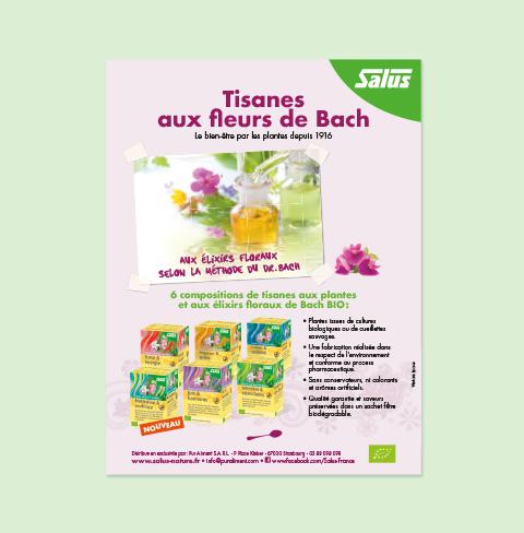 affiche tisanes aux fleurs Salus