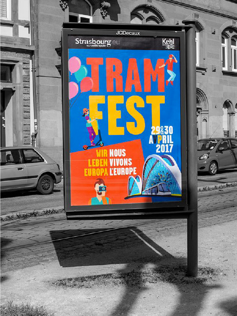 affiche tramfest en ville