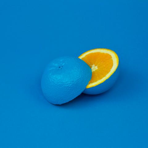 Photo orange bleue