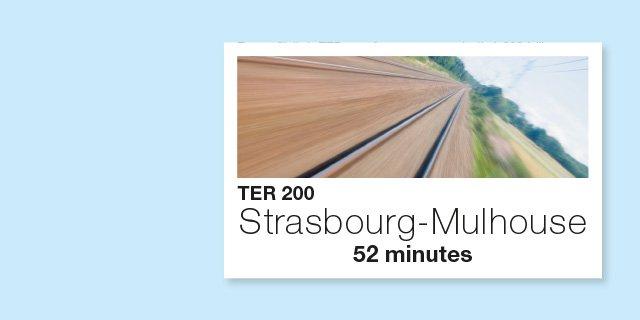 affiche TER Strasbourg Mulhouse en 52 minutes